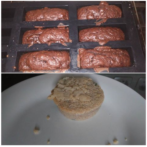 bieten brownies en courgette cakejes